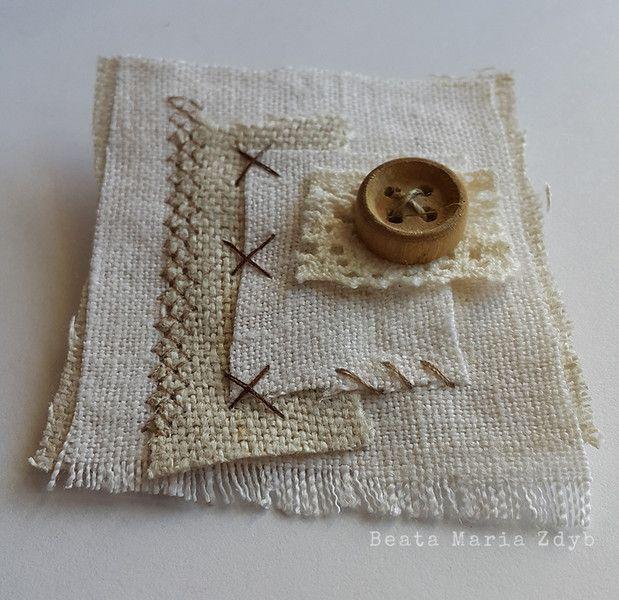 Fabric Brooch – made by Beata Maria Zdyb