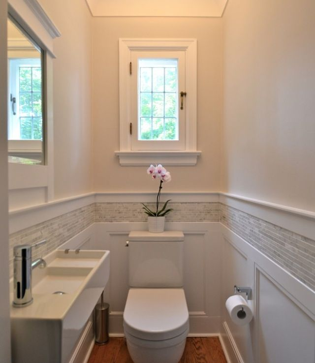 powder room small bathroom ideas gnome home pinterest. Black Bedroom Furniture Sets. Home Design Ideas