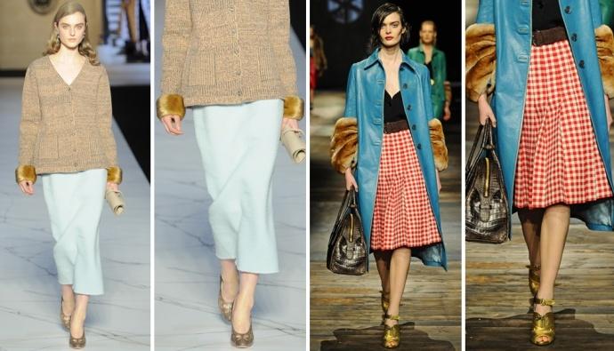 Fur cuffs: Rochas VS Prada