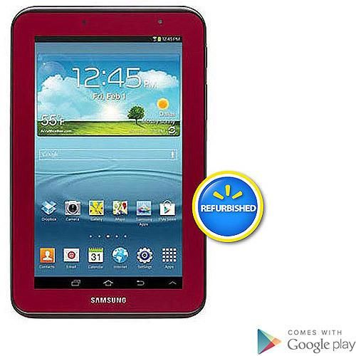 "Samsung Galaxy Tab 2 7"" Tablet with 8GB Memory -Garnet Red (Refurbished)"