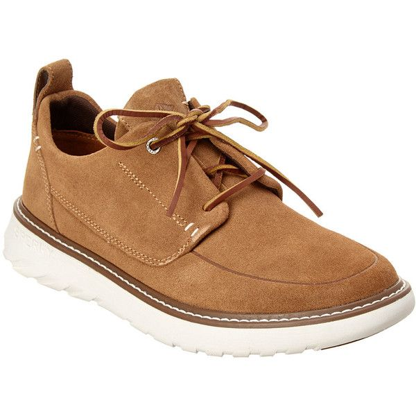 Sperry Men's Element Suede Sneaker (290 BRL) ❤ liked on Polyvore featuring men's fashion, men's shoes, men's sneakers, brown, mens rubber sole shoes, mens suede sneakers, mens sneakers, mens suede shoes and mens lace up shoes