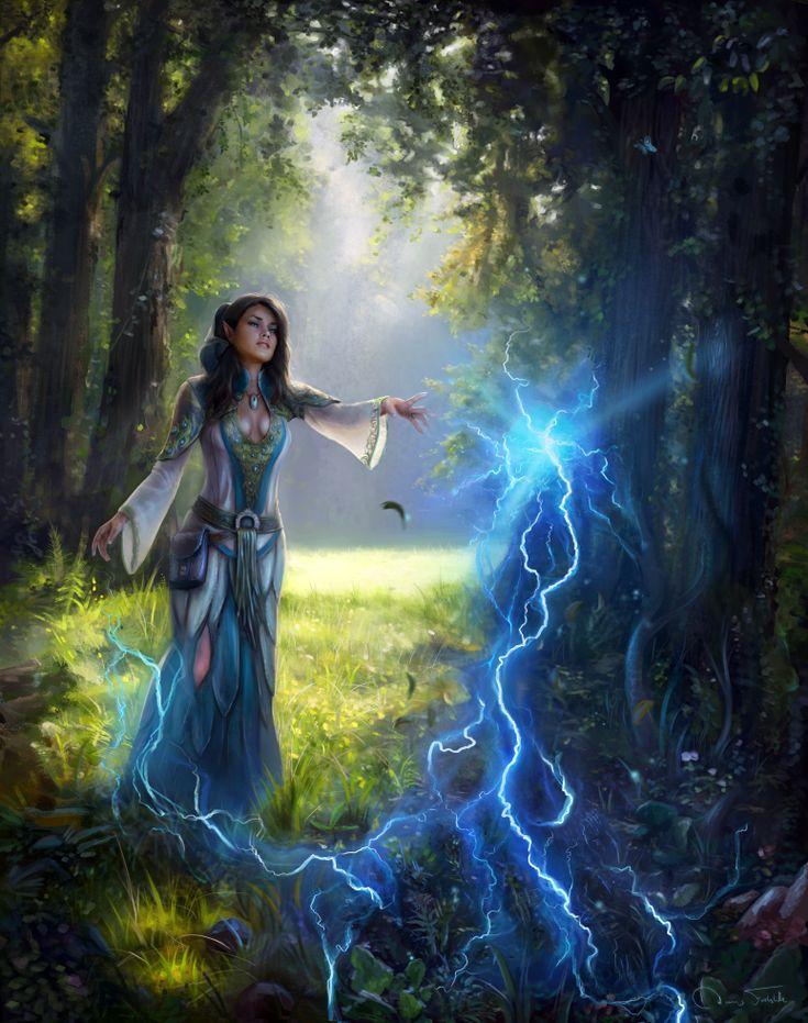 Картинки магия девушки