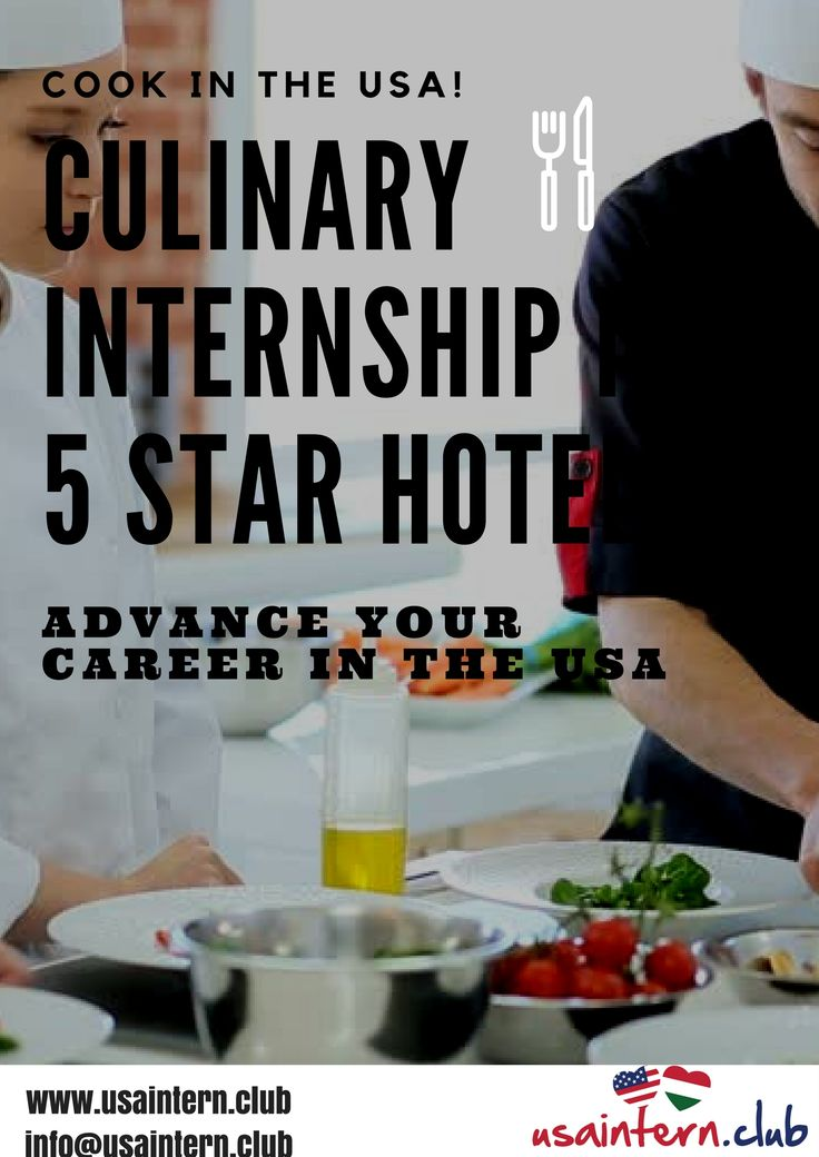 Apply for Culinary Internship in the USA and gain unforgettable experience.