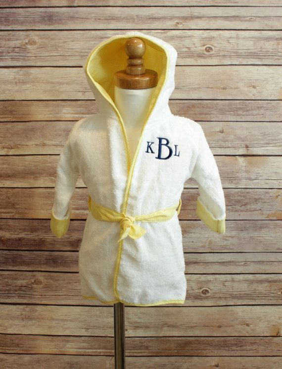 Monogrammed Hooded Baby Bath Robe  Boys or by AllThatSassBoutique, $22.00  https://www.etsy.com/listing/187257561/monogrammed-hooded-baby-bath-robe-boys?ref=shop_home_active_17