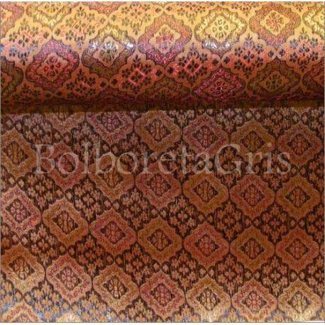 #Brocado #Tradicional http://bolboretagris.es/brocados/417-brocado-adamascado-.html #telas #indumentaria #traje #popular #regional #folclore #confeccion #tejidos #seda #moda #silk