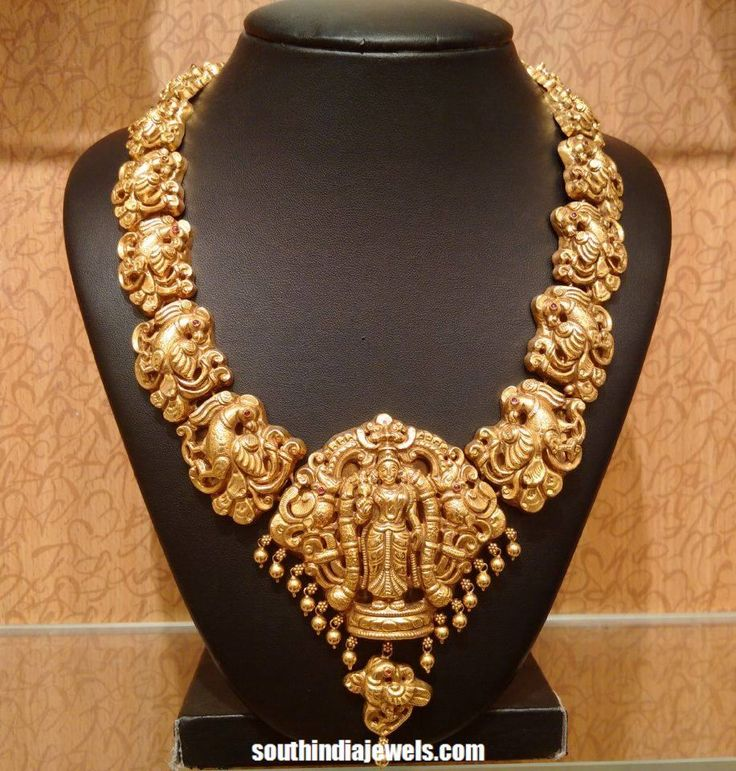 Latest Temple jewellery necklace 2015 frm NAJ