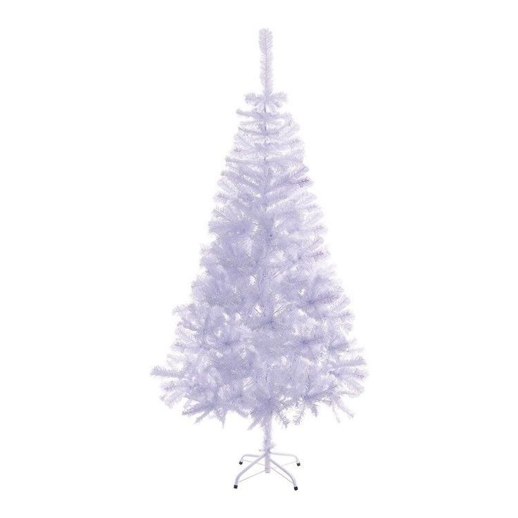 White Artificial Christmas Tree 6-Foot Undecorated w Stand Holiday Home Decor #Branded