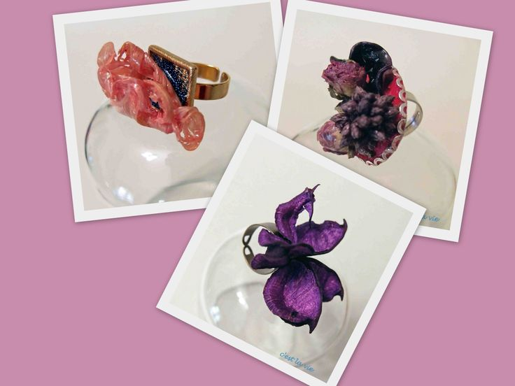 rings from dried flowers! (pot-pouri)