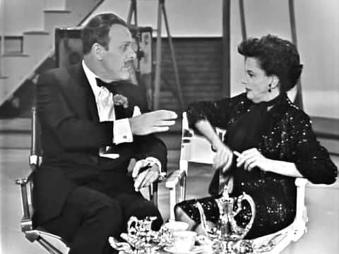 Judy Garland & Terry-Thomas: tea for two (The Judy Garland Show ... #celebrities #tea