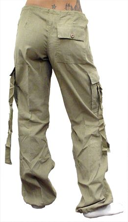 Girls UFO Hipster Pants (Extreme Comfort Cords) (Khaki)