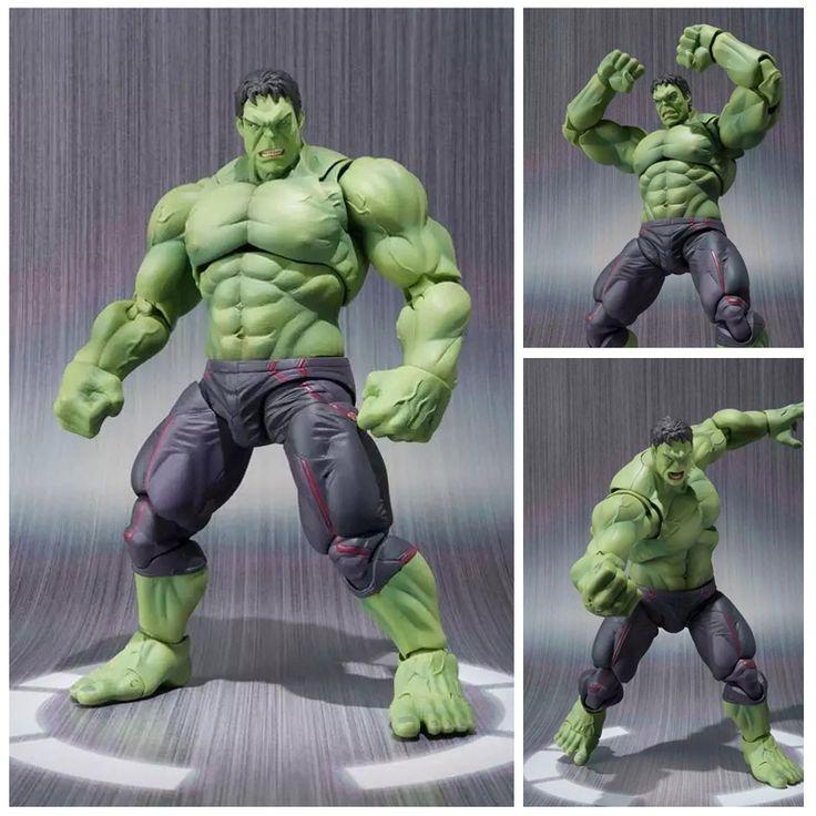 NEW hot 22 cm hulk avengers Super hero movable action figure mainan hadiah Natal boneka haoke15