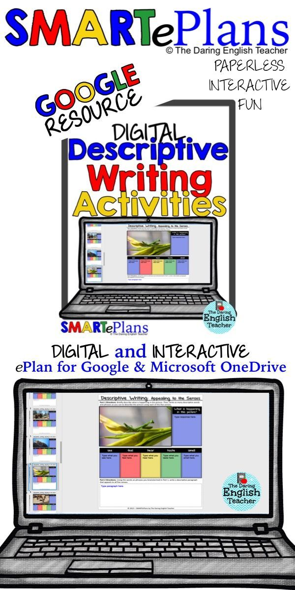 Descriptive writing tasks