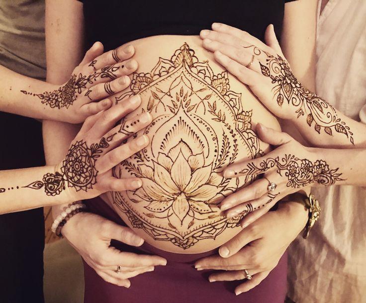 #henna #hennalotus #theeyeofhenna #pregnancy #blessingway #mehndi #babyshower #beauty #momtobe #bellyart #hennabelly