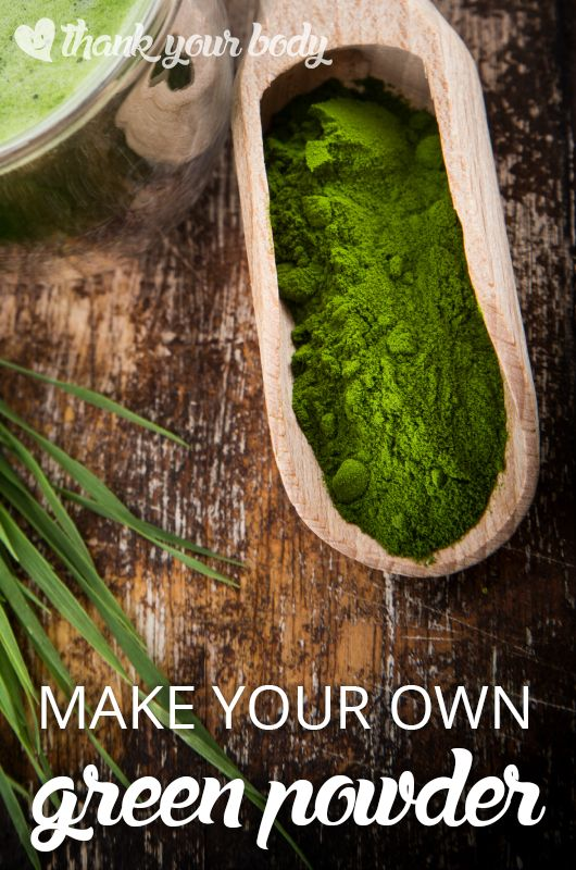 Learn how to make your own organic green powder. Perfect to add to my morning smoothie!