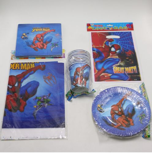 Комплект для оформления праздника Человек паук. Нашла здесь - http://ali.pub/0x13q