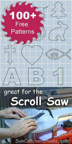 Free Scroll Saw patterns, ideas, projects, beginners, intermediate, advanced, internal cuts, religious, letters.