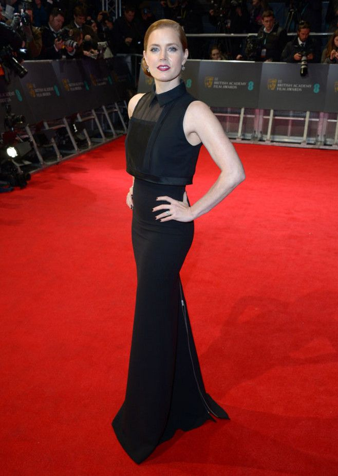 Amy Adams alfombra roja 2014 BAFTA