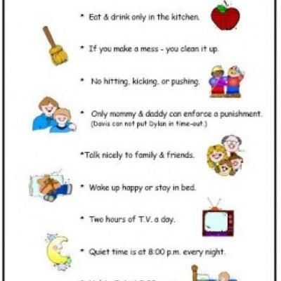 parenting chart for home