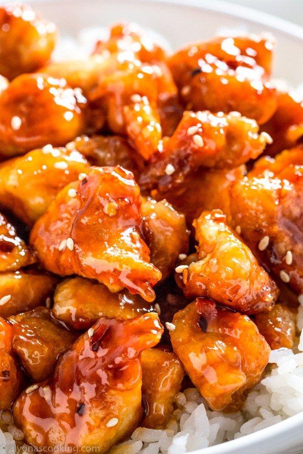 General Tso S Chicken Recipe Homemade Chinese Food Food Recipes Chicken Recipes