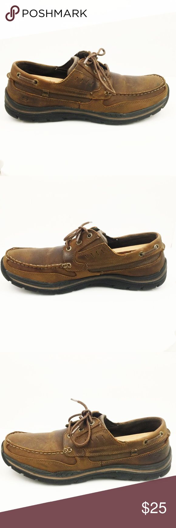 Skechers Leather Oxford Casual Loafers Size 11.5 Sketchers Gembel Brown leather lace up oxford casual loafer shoes men's size 11.5. Skechers Shoes Loafers & Slip-Ons