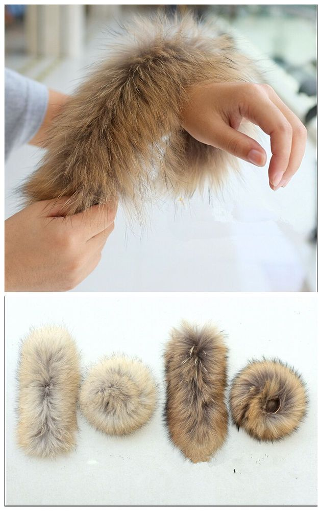 $24 on sale. New racoon fur wrist hand warmer sleeve cuffs women accessaries fashion 1 pair #MF #BasicCoat