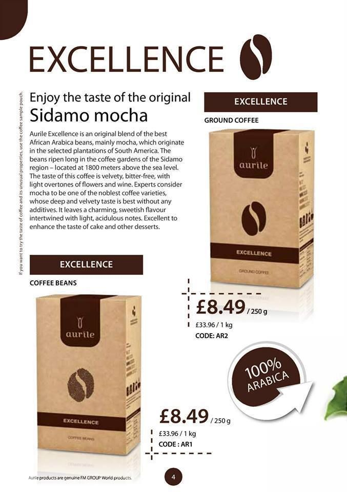 Aurile Energy Coffee Information