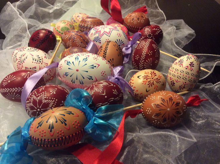 """Czech Easter wax eggs """" Kraslice"""""""