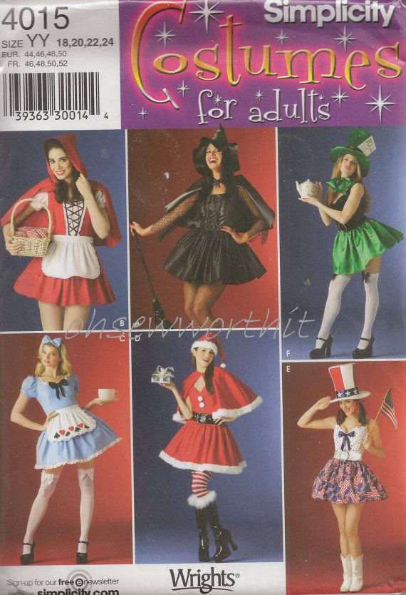 Simplicity 4015 Sewing Pattern Costumes For Adults by ...