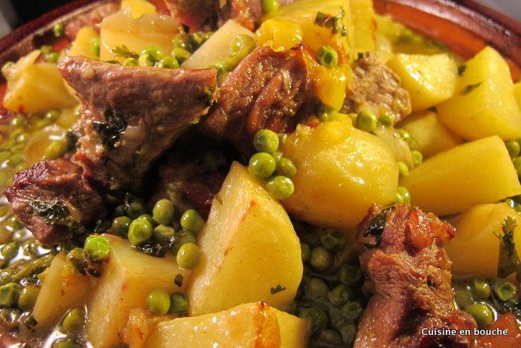 Le Blog de Cuisine en bouche: Tajine de veau, pommes de terres, petits pois