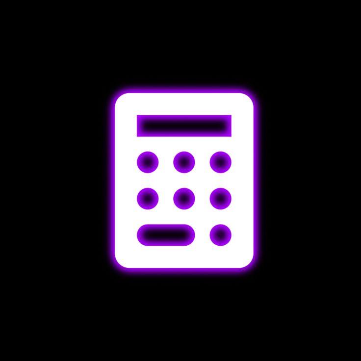 Purple Glow icon- calculator | App icon, Neon purple, Cute ...