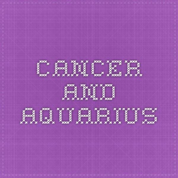 Cancer male female aquarius