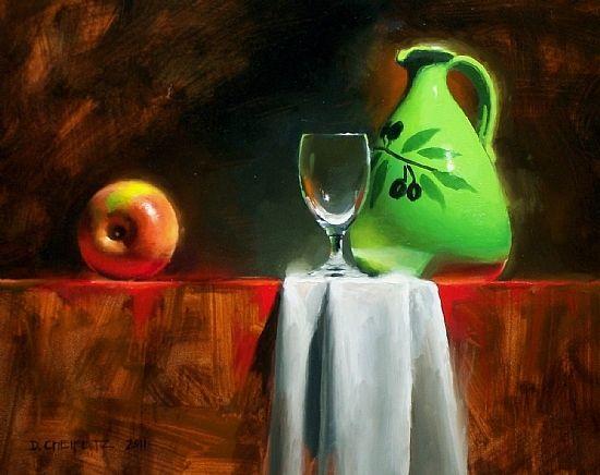 Green Vessel by David Cheifetz Oil ~ 8 x 10