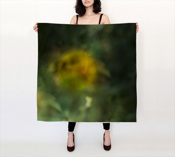 """Abstract Flower 36""""X 36"""" Large Square Silk Scarf by LOVEMIZU on Etsy"""