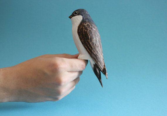common house martin  Delichon urbicum swallow by AntjeSchnitzt