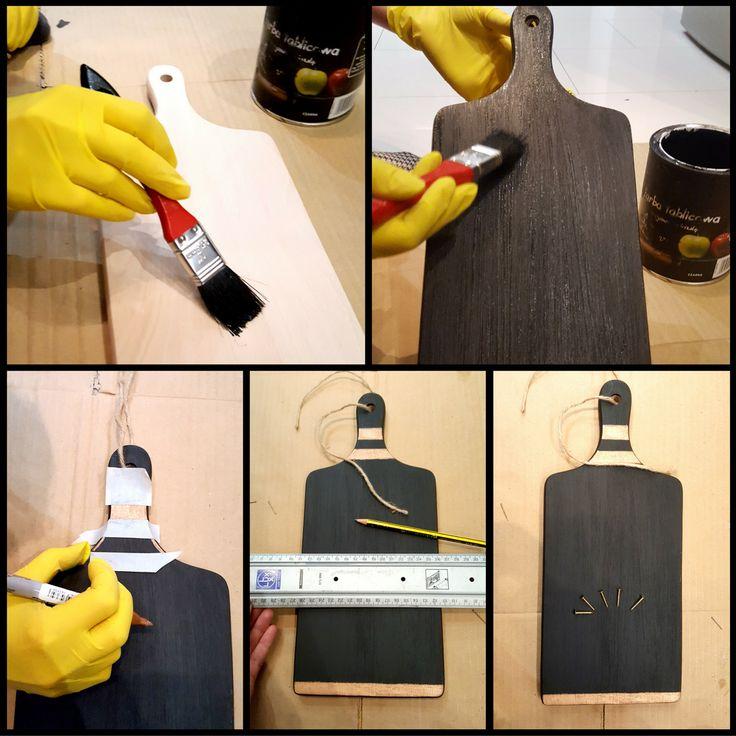 DIY - cutting board   Inspiration   Space for key ! Zrób to sam - domowe dekoracje  Więcej na www.mieszkaniowemetamorfozy.pl/blog