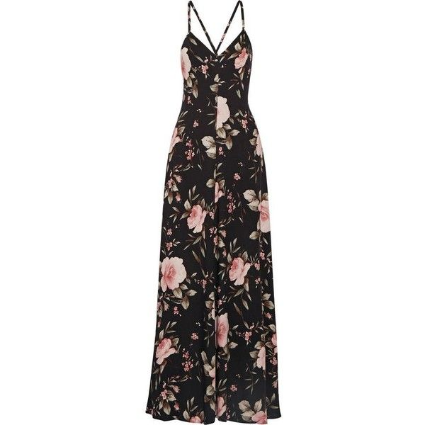 ALICE + OLIVIA Alves floral-print crepe de chine maxi dress ($398) ❤ liked on Polyvore featuring dresses, multi color maxi dress, multi colored maxi dresses, floral print dress, multi coloured dress and floral day dress
