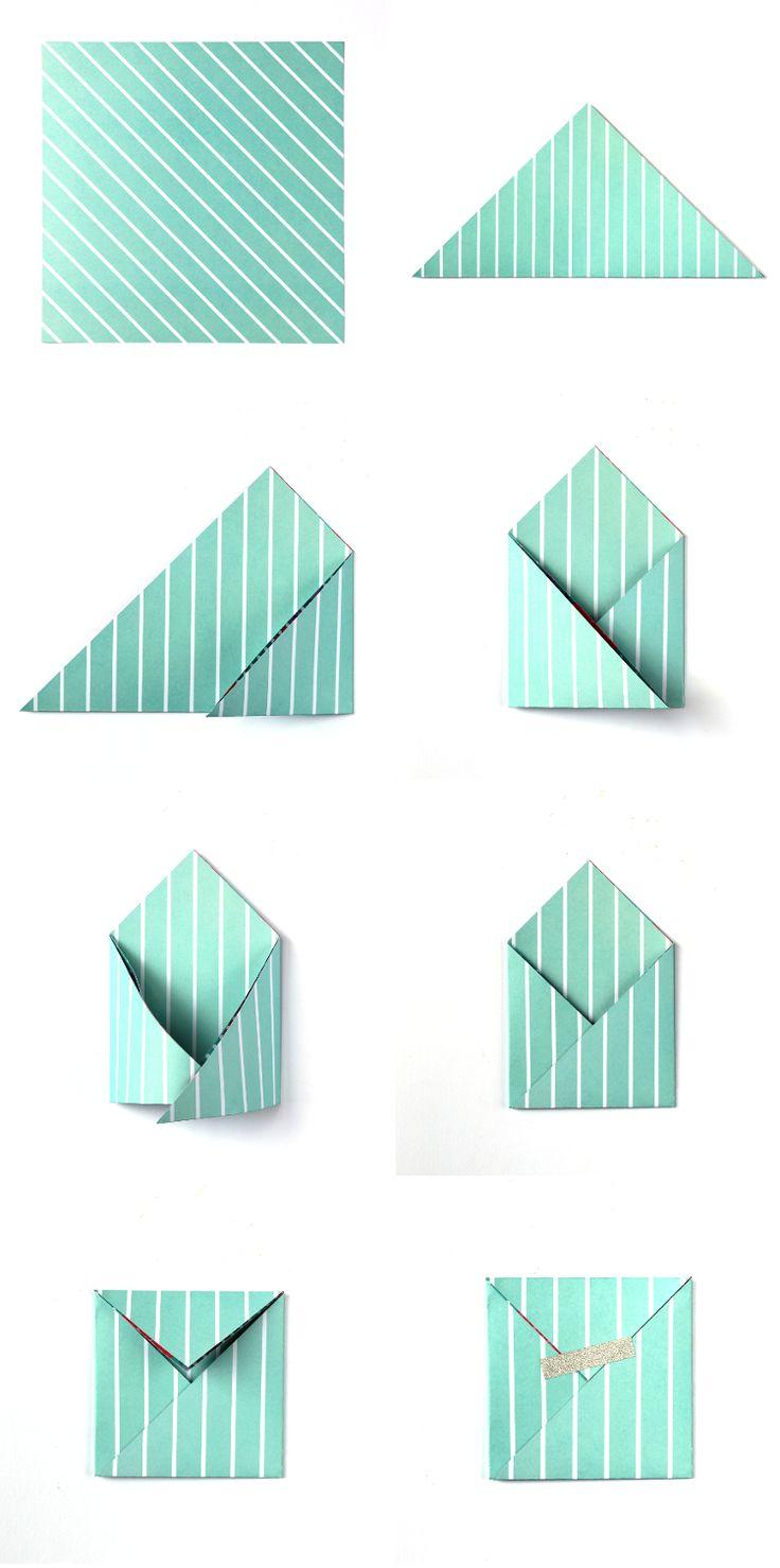 DIY: easy square origami envelopes