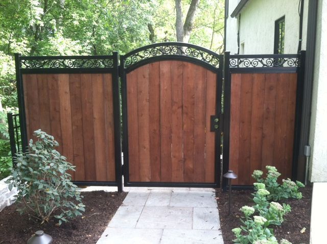 Commercial Fence Installation Chicago Wood Fence Design Fence Design Wood Fence