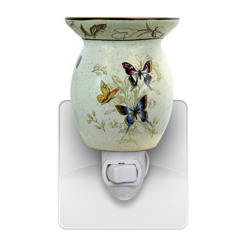 Plug in Butterfly Tart Warmer by Vista. $9.99. Makes A Great Gift. Butterfly Design Tart Warmer. Use Wax Tarts To Fill Your Room With Aroma. Uses 15 watt bulb (Included). Base Swivels To Allow Unit To Fit Into Any Plug. These wonderful little tart warmers are great for the kitchen or bathroom. They plug directly into the wall outlet and with the flip of a switch begin melting whatever scented wax you choose and fill your room with the aroma. The base swivels allowing the unit ...
