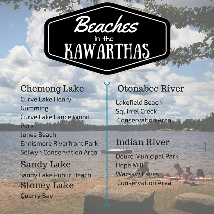Beaches to visit in the Kawarthas! Ask us for directions or more information - info@kawarthachamber.ca