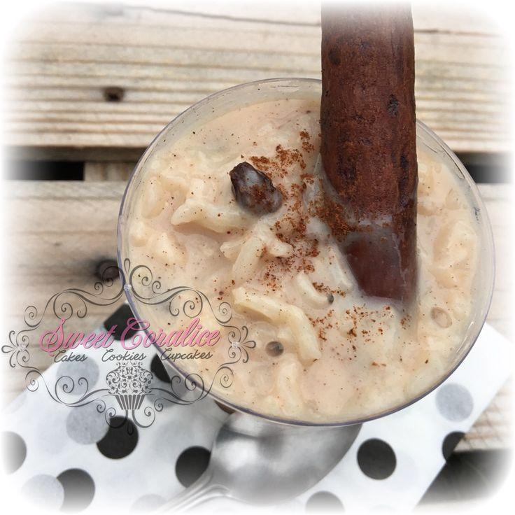 Atole de Arroz! Cinnamon, Rice, Evaporated Milk and Raisins!