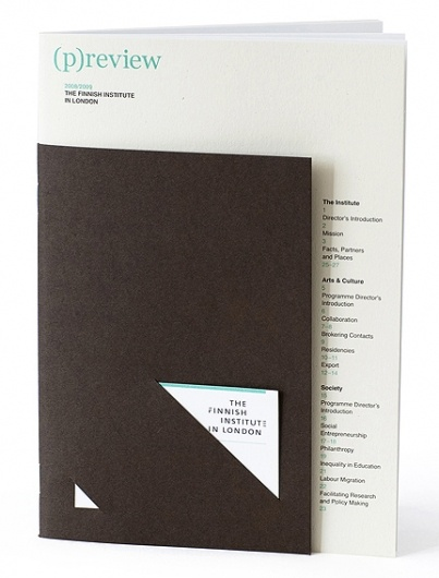 Cool use of shapes and sizes to make any old report/portfolio a little more interesting...