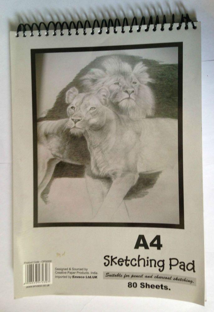 A4 Spriral Sketching Pad 80 sheets
