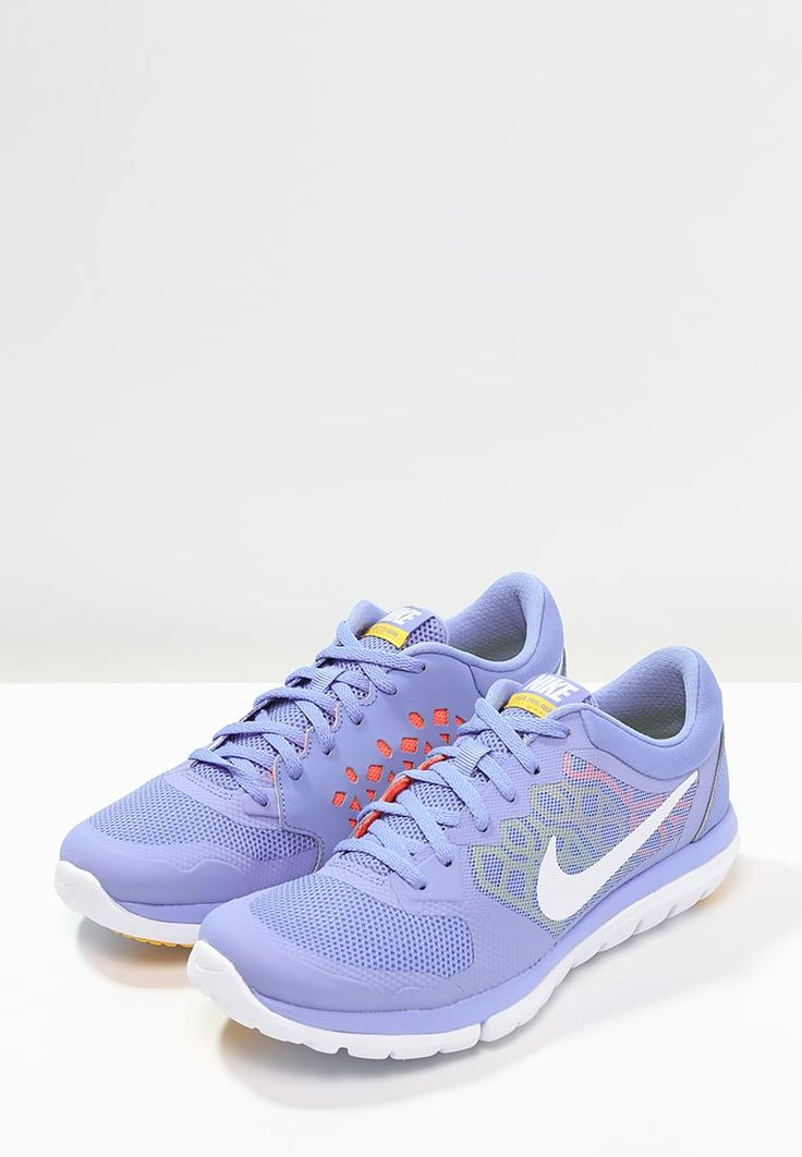 Nike Performance FLEX RUN 2015 - Lightweight running shoes - chalk blue/ white/hyper orange/varsity for with free delivery at Zalando