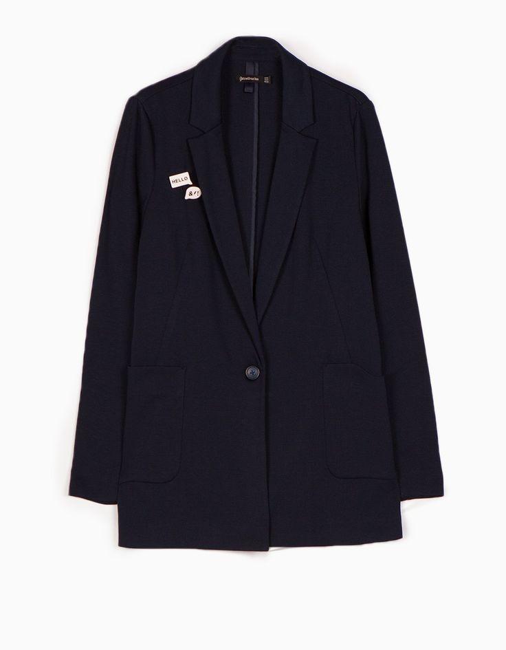 Пиджак со значками - Куртки И Жакеты   Stradivarius Россия