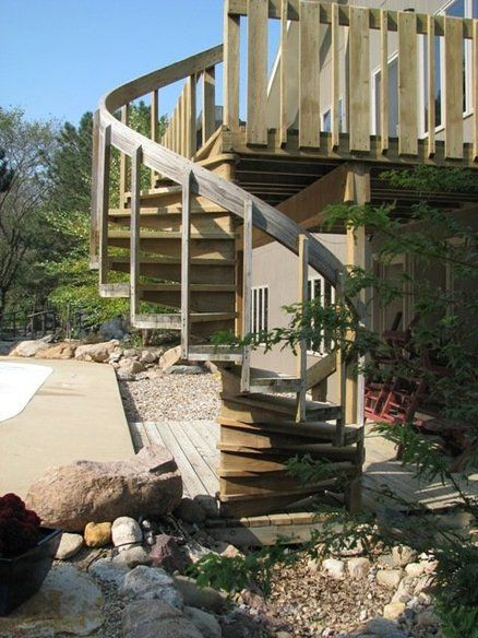 stairs on pinterest decks raised deck and spiral staircase kits