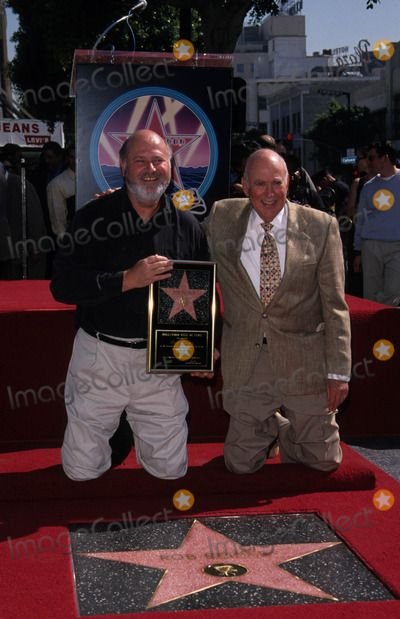 Rob Reiner received a star on the Hollywood Walk of Fame. His dad, actor, comedian, writer, producer, Carl Reiner is there to celebrate the event with his son.