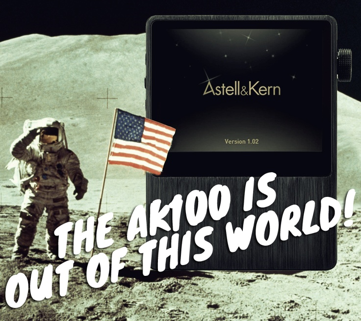 The AK100 Hi-Res music player from Astell & Kern. Play 24/192 FLAC - Awesome!!