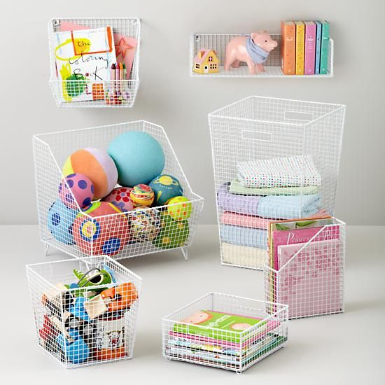 Desk storage, toy storage  Kids Storage: Wire Stacking Storage Collection in Storage Collections | The Land of Nod