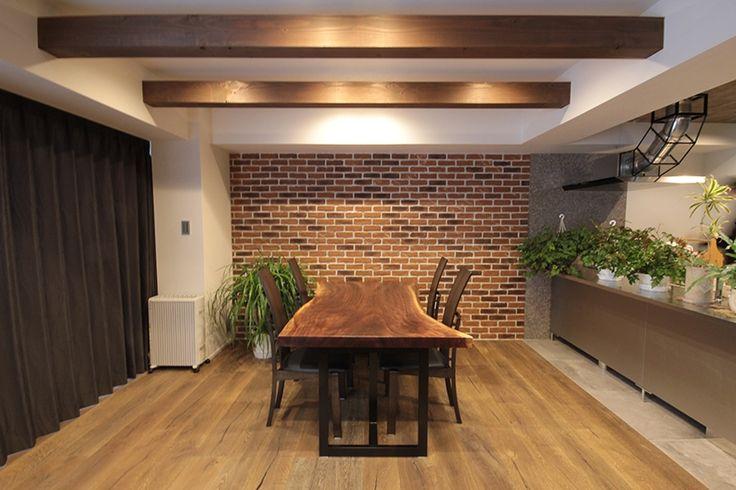 リビングダイニング事例:DK(渋谷区 F邸 ヴィンテージ感溢れるデザインと快適性の両立)